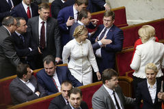 Yulia Tymoshenko in Ukrainian Parliament, 27 November 2014, Kiev, Ukraine Stock Photo