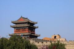Yulin city gate. The yulin city gate , yulin is the north city of shanxi china stock image