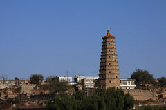 Yulin city tower Royalty Free Stock Photography
