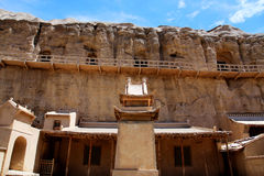 Yulin Grottoes. A branch of the Mogao Grottoes art system, located in Guazhou county , Jiuquan city , Gansu province , China Royalty Free Stock Images