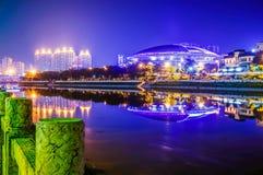 Yulin stadsstadion i Kina royaltyfri bild