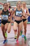 Yuliya Chizhenko - 1500 meter körning Arkivbilder