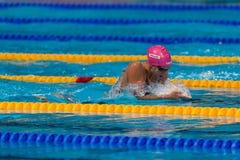 Yuliya Efimova ( Russia). BARCELONA – AUGUST  2: Yuliya Efimova ( Russia ) )  in Barcelona FINA World Swimming Championships on August 2, 2013 in Barcelona Royalty Free Stock Photos