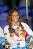 Yuliya Efimova ( Russia). BARCELONA - JULY  30: Yuliya Efimova  during vicroty cerimony, Barcelona FINA World  Swimming Championships  on July 30, 2013 in Stock Photo