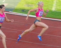 Yuliya Gushchina en Anastasiya Kapachinskaya Stock Afbeelding