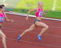 Yuliya Gushchina und Anastasiya Kapachinskaya Stockbild