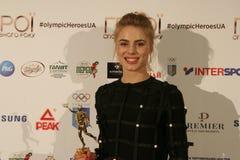 Yuliya Levchenko przy konferencją prasową fotografia stock