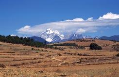 Yulong (jade dragon) snow mountain Stock Images