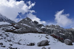 Yulong (Jade Dragon) Snowmountain, Lijiang, Yunnan, China Royalty Free Stock Photo