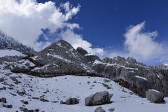 Yulong (Jade Dragon) Snowmountain, Lijiang, Yunnan, Chine Photo libre de droits