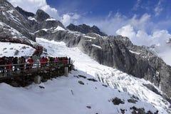 Yulong (Jade Dragon) Snowmountain, Lijiang, Yunnan, Chine Photographie stock