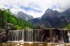 Yulong Mountain in Lijiang Stock Photography