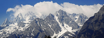 Yulong śniegu góra Obrazy Royalty Free