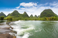 Yulong river landscape Stock Photography