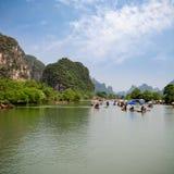 The yulong river rafting Royalty Free Stock Photos