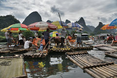 YULONG river,YANGSHUO county, GUILIN Stock Images
