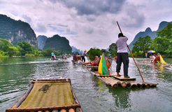 YULONG river,YANGSHUO county, GUILIN Stock Photography