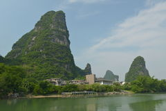 Yulong River in Yangshuo Royalty Free Stock Images