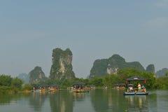 Yulong River in Yangshuo Stock Photo