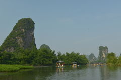 Yulong River in Yangshuo Royalty Free Stock Photography