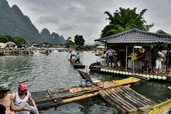 YULONG-rivier, YANGSHUO-provincie, GUILIN Stock Fotografie
