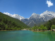 Yulong-Schnee mountainï ¼ Œ Yunnanï ¼ Œ China Lizenzfreie Stockfotos