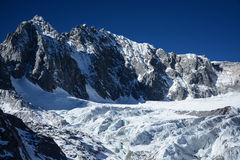Yulong snow capped mountain Stock Images