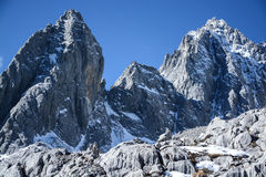 Yulong snow capped mountain Royalty Free Stock Photography