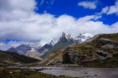 Yulong snow capped mountain Royalty Free Stock Photo