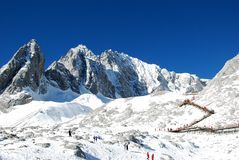 Yulong snow mountain royalty free stock photography