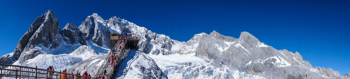 Yulong Snow Mountain in Lijiang, Yunnan Province Royalty Free Stock Photo