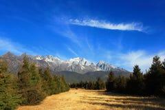 Yulong snow mountain Royalty Free Stock Photo