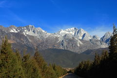 Yulong snow mountain Stock Photo