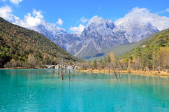 Yulong snow mountain scenic area Royalty Free Stock Photo