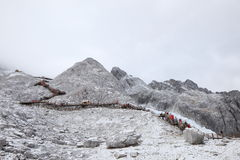 Yulong snow mountain in Tibet Royalty Free Stock Photo