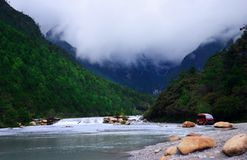 YULONG SNOW MOUNTAIN-WHITE RIVER Stock Images