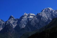 Yulong snow mountains Royalty Free Stock Image