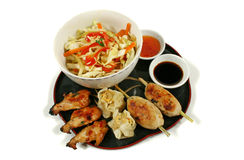 Yum Cha Platter 1. Delicious yum cha platter with stirfry vegetables Stock Images