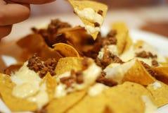 Yum dos Nachos Foto de Stock