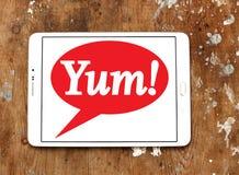 Yum! Marca a caldo il logo Fotografia Stock Libera da Diritti