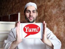 Yum! Marca a caldo il logo Fotografie Stock Libere da Diritti