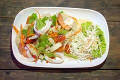 Yum Meeresfrüchte in einem thailändischen Restaurant lizenzfreie stockfotografie
