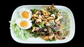 Yum poo do tua, marisco da salada do camarão do feijão de asa, alimento de Tailândia foto de stock royalty free