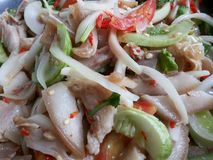 Yum pork very hot chilli, Thai food. Royalty Free Stock Images