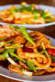 Yum sam krob, spicy mix salad thai style Stock Photo
