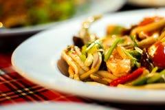 YUM thailändsk kokkonst Fotografering för Bildbyråer