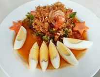 Yum toiplu, traditionell thai mat Arkivfoton