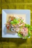Yum Woon Sen, spicy vermicelli salad Stock Photos