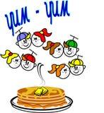 Yum yum pancakes Stock Photo