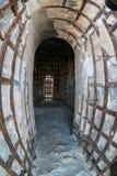 Yuma Territorial Prison, deteriorating cells. Prisoner cells at the historic Yuma Territorial Prison in Yuma, Arizona Stock Photos